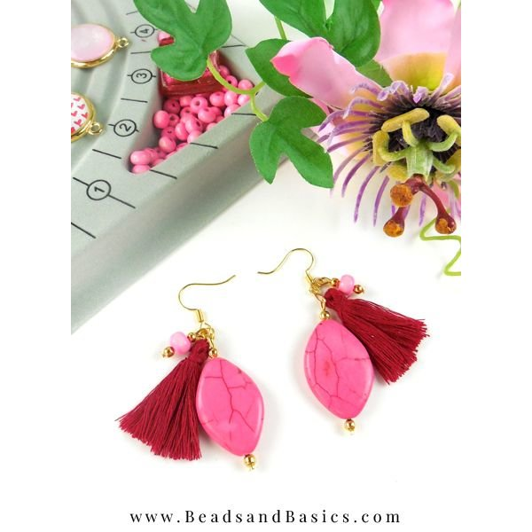 Tassel Wine Red 30mm, 5 pieces