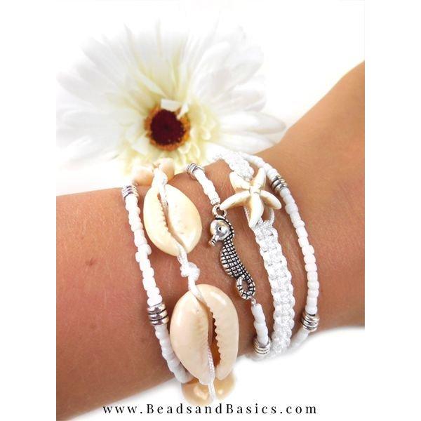 Shells Bracelet Making Macramé Wire