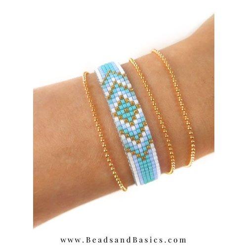 Woven a Blue Miyuki Bracelet