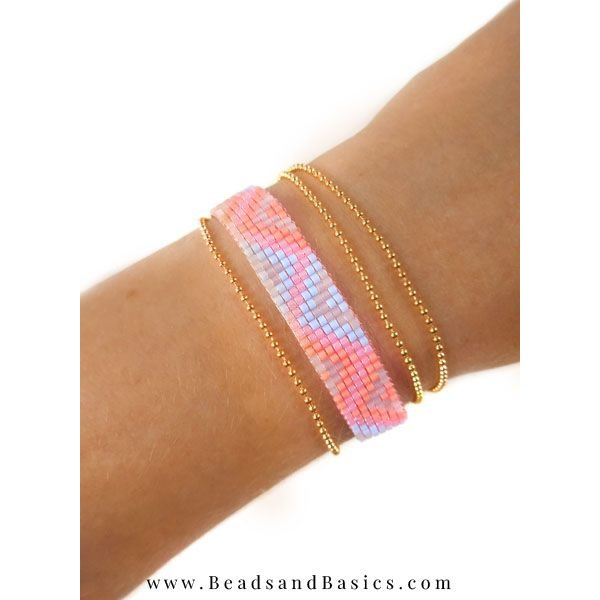 Self A Pink Miyuki Bracelet Weave