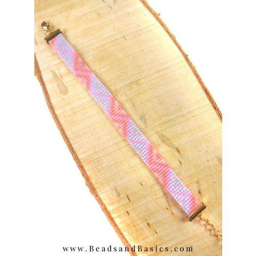 Zelf Een Roze Miyuki Armband Weven