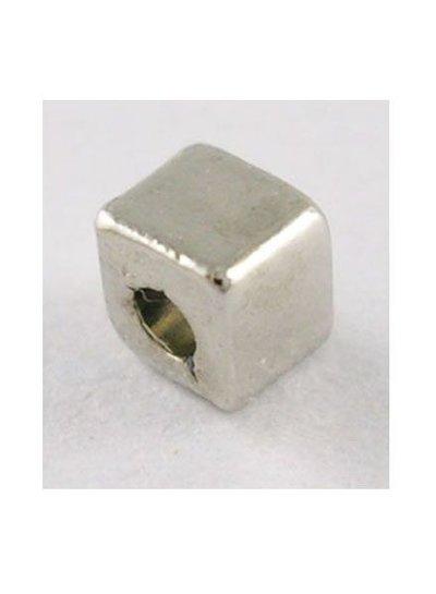 20 Stuks Vierkante Tibetaanse Spacer Beads Antiek Zilver 3x3mm