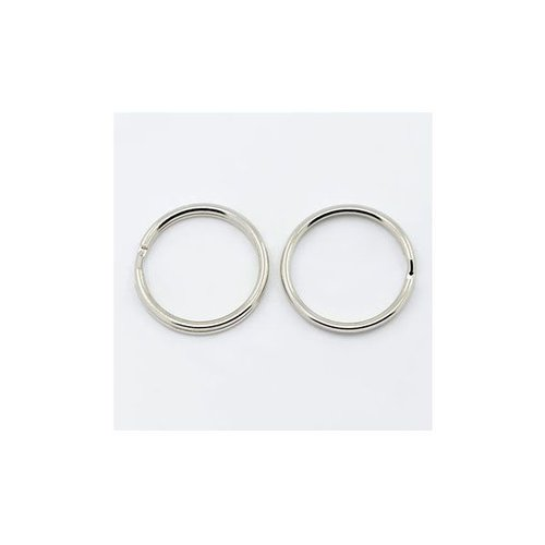 10 pieces Keychain Ring Silver 20x2mm