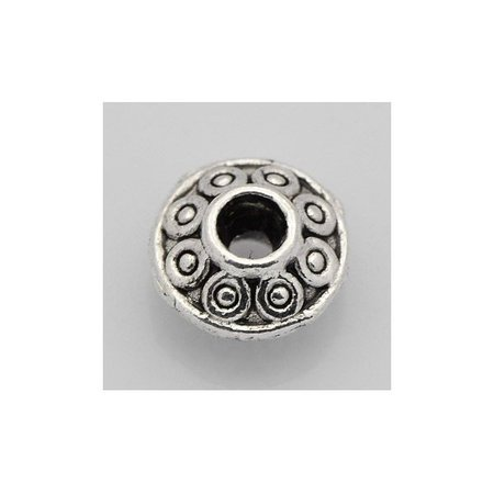 Tibetan Spacer Beads Silver 6x3mm