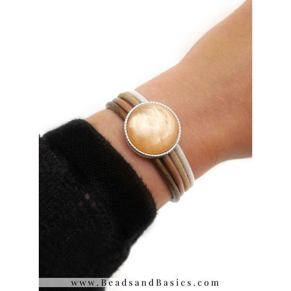 Hoe Maak Je Een Armband Van Leer Met Magneetsluiting - Camel