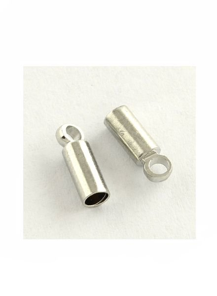 8 pieces End caps Silver for 3mm Cord