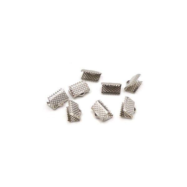 10 Stuks Veterklem Zilver 8x6mm