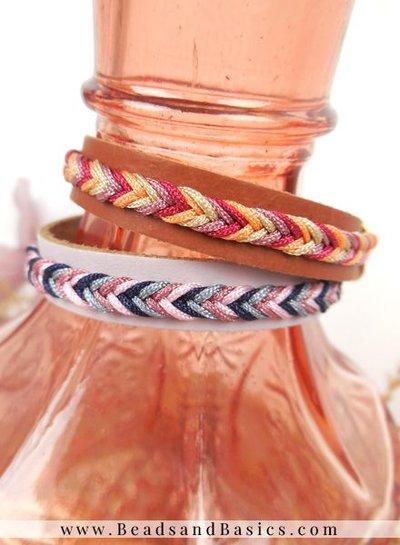 Create A Leather Bracelet With Fishbone Braid