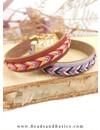 Make A Leather Bracelet With Fishbone Braid - Lilac