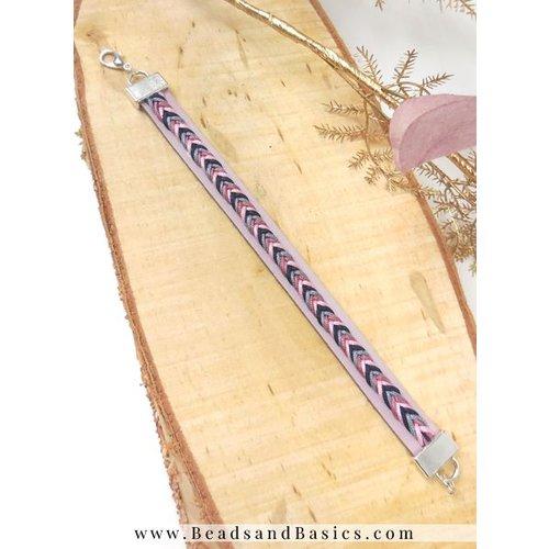 Zelf Een Leren Armband Maken Met Vissengraatvlecht - Lila