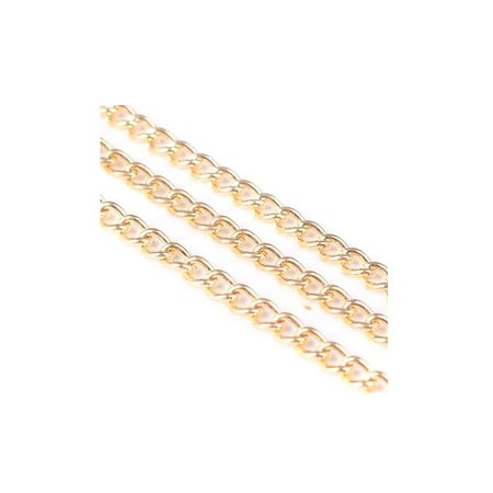 Jasseron Link Chain Gold mm, 1 Meter