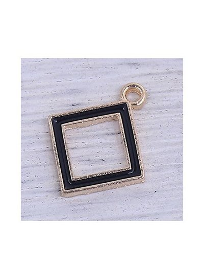 Luxury Square Bead Black 18x15mm