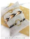 Miyuki Weefarmband Maken In het Goud Met Zwart Met Armbandjes Van Elastiek