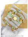 Armband Setje Mintgroen en Goud