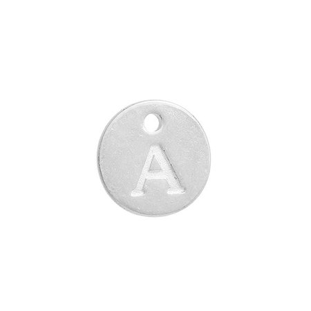 Initial Charm Silver 12mm Letter 'A'