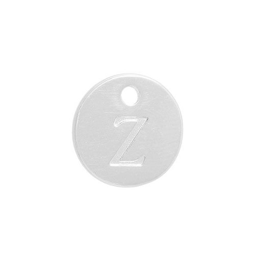 Initial Charm Silver 12mm Letter 'Z'