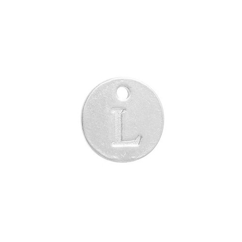 Initial Charm Silver 12mm Letter 'L'