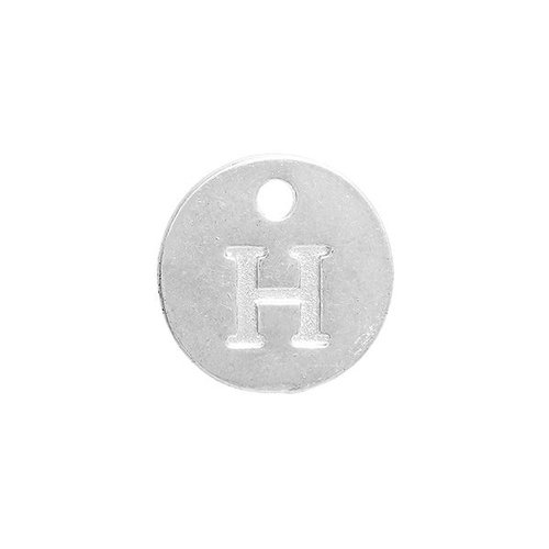 Initial Charm Silver 12mm Letter 'H'