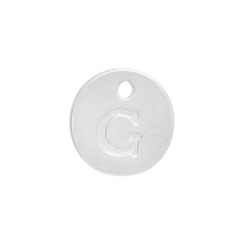 Initial Charm Silver 12mm Letter 'G'