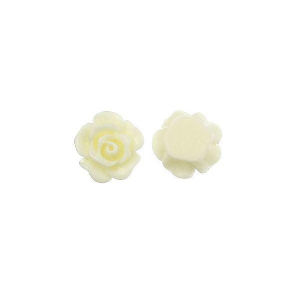 White Rose Cabochon 10mm