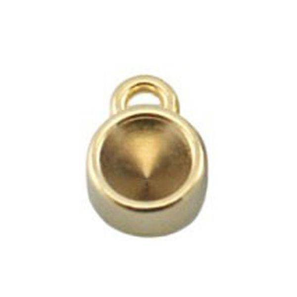DQ Charm Gold 12x8mm fits Pointstone ss29 / 6.2mm