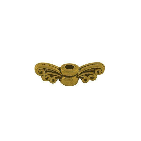 10 Pieces Gold Wing Gold 14x4 mm Nickel Free