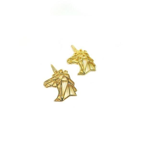 Unicorn Charm Gold 29x20mm