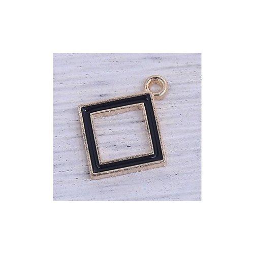 Luxury Square Bead Black 18x15mm
