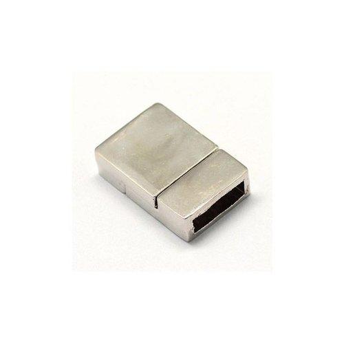 Magneetsluiting Zilver Voor Plat Leer 10mm