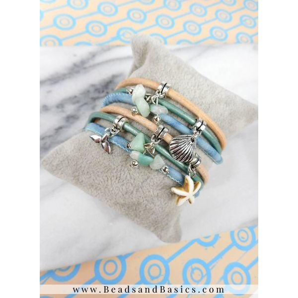 Wrap Bracelet From Leather With Charms