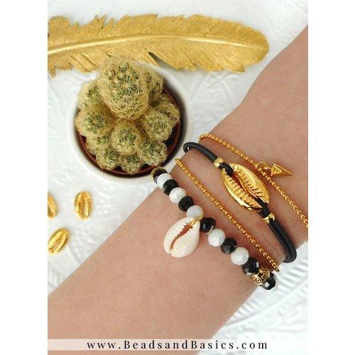 Minimalistische Armbanden Set - Goud, Zwart Met Wit