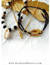 Minimalist Bracelets Set - Gold Black White