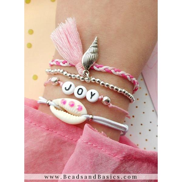 Letterkralen Armbanden Setje Met Bedels