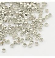 Crimp Beads Silver 2mm, 100 pieces