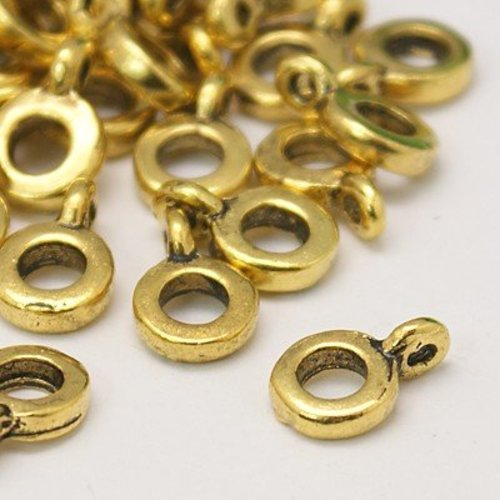 10 pcs Gold Bailbead with Eyelet 6x2mm