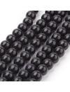 80 stuks Glaskralen Zwart 6mm