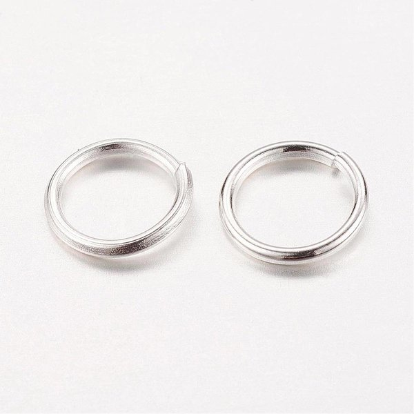 Jumpring Silver Colour 4mm, 100 pieces