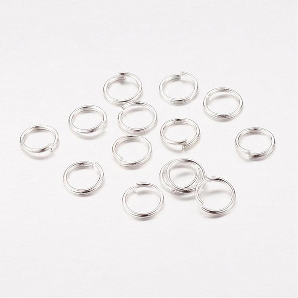 Jumpring Silver 6mm, 100 pieces