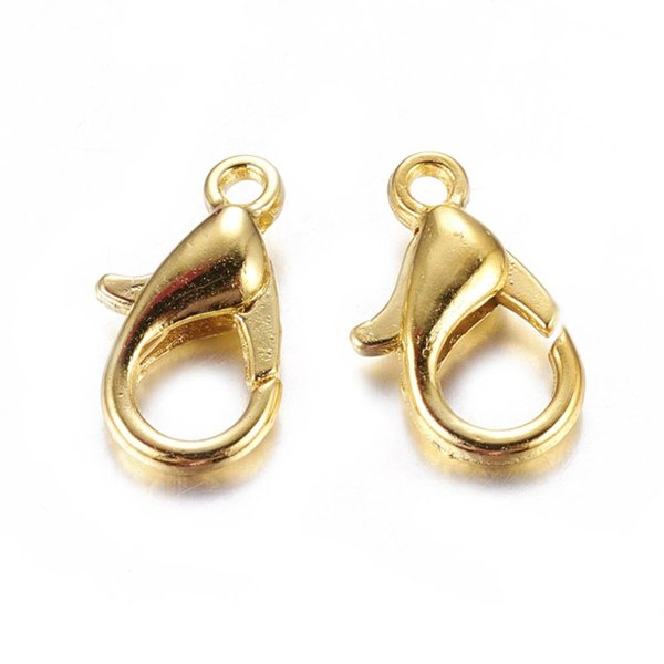 Lobster Clasp 12mm Gold, 8 pieces