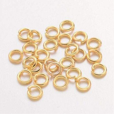 100 pcs jumpring gold 6mm