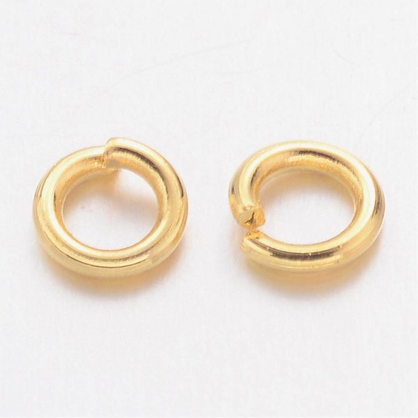 100 pieces jumpring gold 6mm