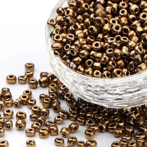 20 gram Rocailles Bruin Metallic 4mm