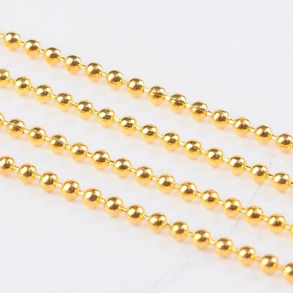 1 meter gold ball chain 2mm