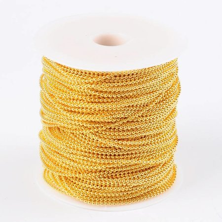 3 meter Ballchain Gold 2mm