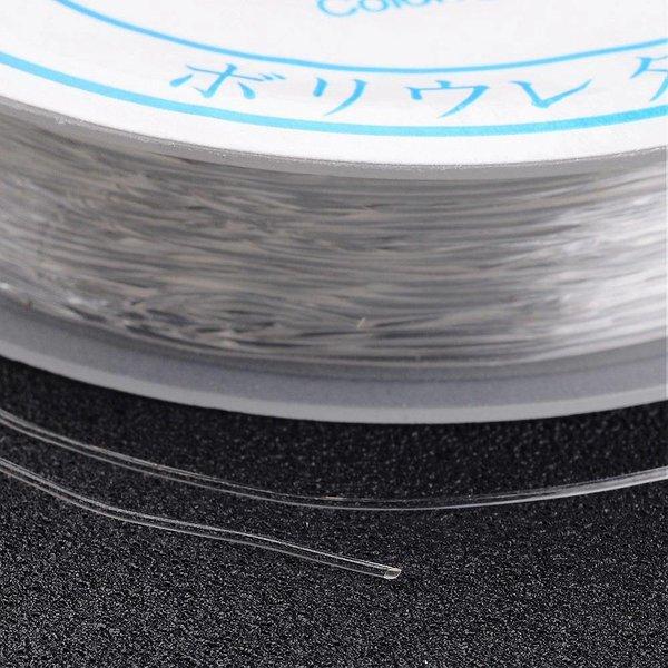Elastiek Transparant 0.5mm, 10 meter