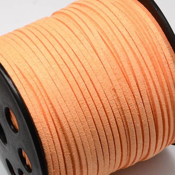 Faux Suede Cord Salmon 3mm, 3 meter