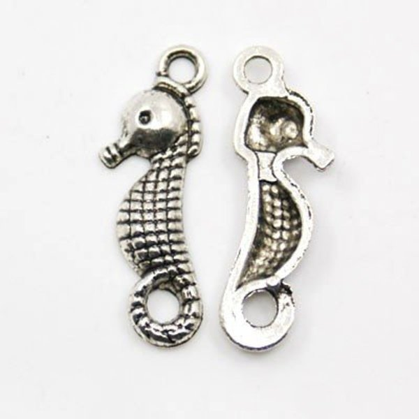 Zeepaard Bedel Zilver 23x7mm, 5 stuks