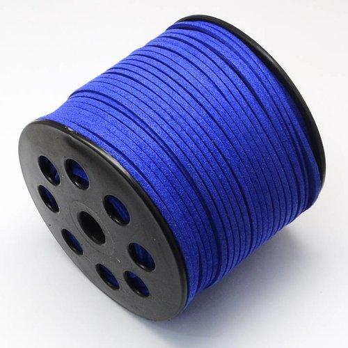 Suede Veter Kobalt Blauw 3mm, 3 meter