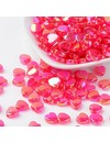 15 pcs Pink Heart Bead Shine 8x3mm