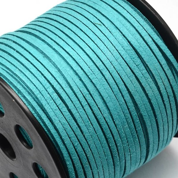 Suede Lace Aqua Blue 3mm,3 meter